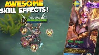 NEW Epic Freya Skin Gameplay (War Angel) Mobile Legends