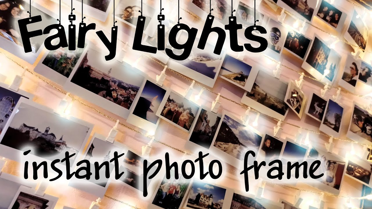 Handmade Polaroid Photo Wall String Light Frame Youtube