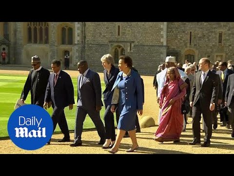 Commonwealth leaders arrive at Windsor Castle for meeting - Daily Mail