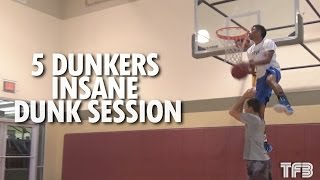 Insane Dunk Session With 5 Of The Best Up And Coming Dunkers In The World!