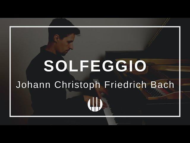 Solfeggio von Johann Christoph Friedrich Bach