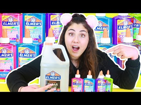 ELMERS CLEAR COLORED GLUE VS ELMERS CLEAR GLUE | Slimeatory #340