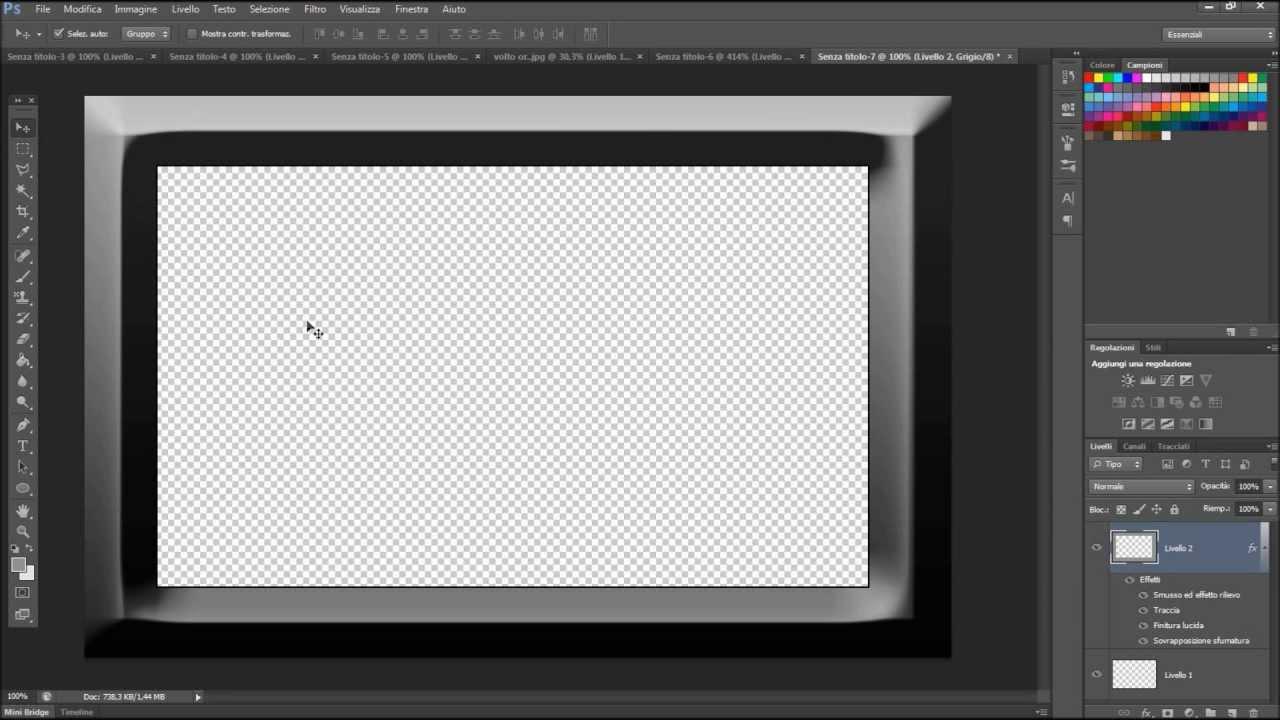 Corso adobe photoshop cs6 creare cornici per foto youtube for Cornici nere per foto