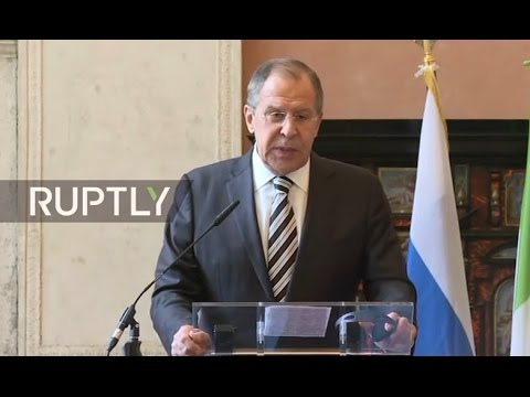 LIVE: Press conference by Lavrov and Gentiloni following their meeting in Rome