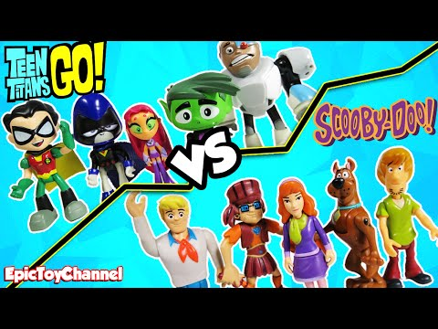 TEEN TITANS GO! vs SCOOBY DOO Haunted Mansion Dance Party by Epic Toy Channel a Funny Kid Video