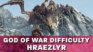 Give Me God of War Hardest Difficulty Boss Fight -  Hraezlyr The Dragon