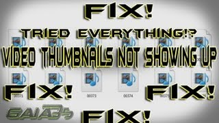 100% FIX windows 7 all file type video thumbnails not showing Official FIX (and 10)