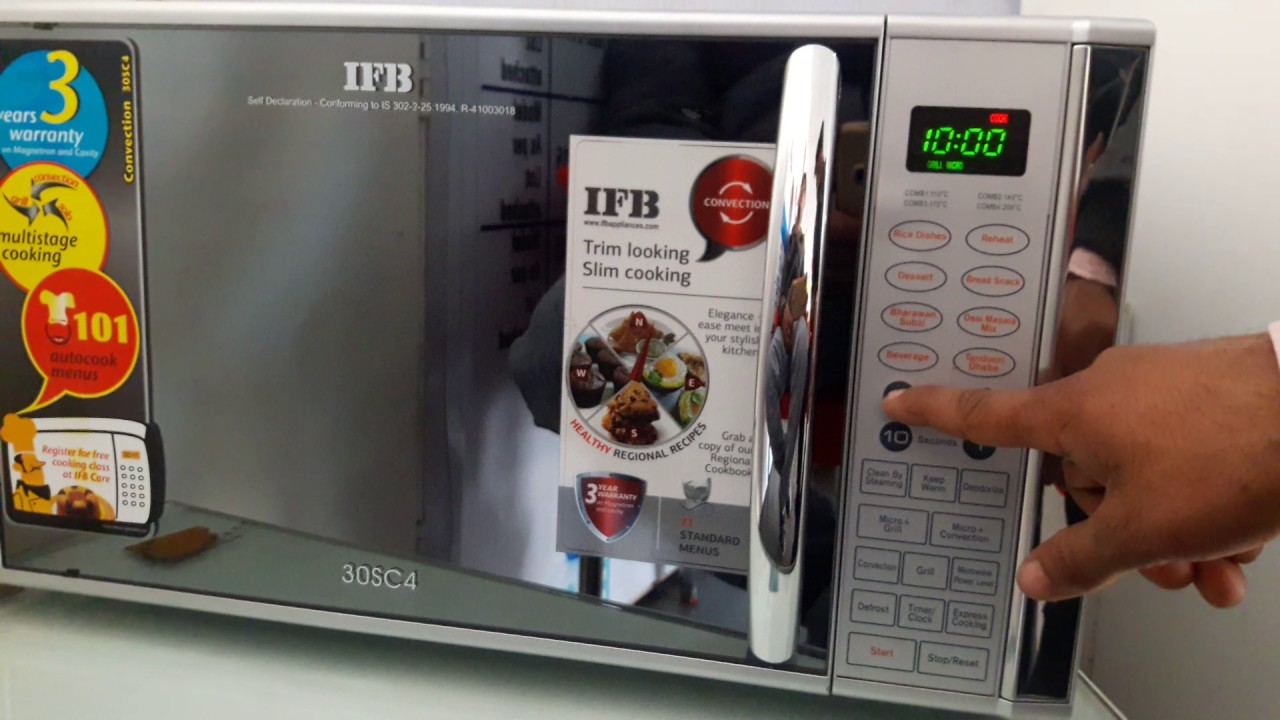 How To Use Ifb 30 Liter Convection Microwave Model 30sc4
