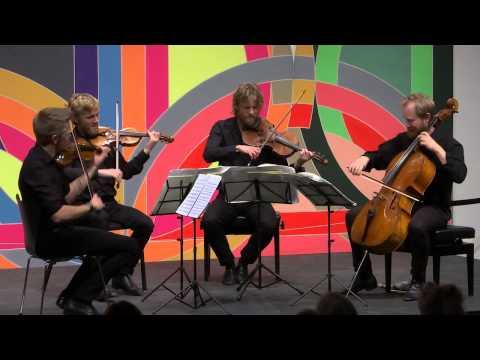 Da Camera presents Danish String Quartet; February 10, 2015, The Menil Collection