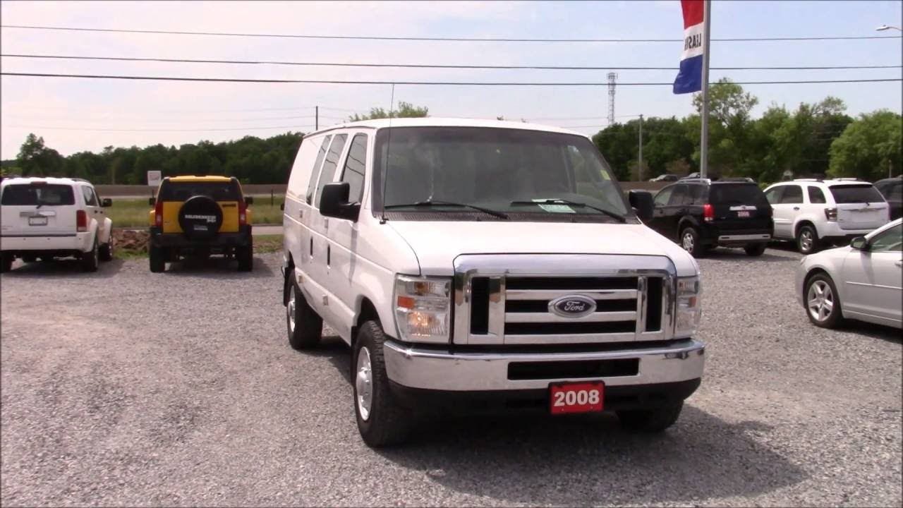 2008 ford econoline e250 cargo van indepth walk around and start up [ 1280 x 720 Pixel ]