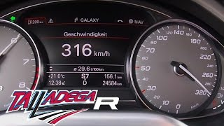 Audi S8 MTM Talladega R 802 HP 4.0 TFSI - 316 km/h Acceleration Autobahn & Sound