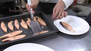 ラ・ヴィータ 春の歓送迎会料理 ノルウェー産サーモンのオーブン焼き