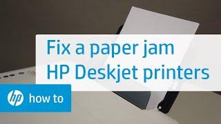 06.Fixing A Paper Jam For The HP Deskjet 1510, 2540, Deskjet Ink Advantage 1510, And 2540 Printers