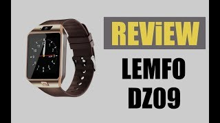 LEMFO Smart Watch Passometer DZ09 - ROM:128MB / Screen Size:1.54 inch / Rear Camera: 0.3MP