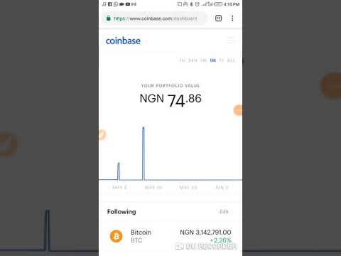 How To Generate Your BTC (bitcoin) Address Using Coinbase