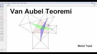 [ GeoGebra Dersleri Türkçe ] Van Aubel Teoremi (Mesut Topal) Video
