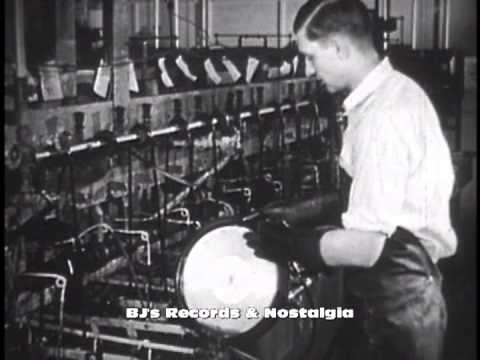 HISTORY OF VINYL RECORDS #1 - The 78 RPM Single  Manufacturing plant RCA
