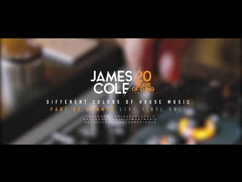 JAMES COLE vinyl only live 20YEARS of DJing part 002 Orange
