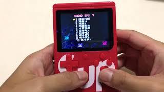 【開箱】復古掌上型遊戲機 400 合一 ,Sup Game Box 400 in 1 測試影片