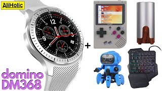 DOMINO DM368 Smartwatch review + 6 Geeky gadgets   AliExpress Unboxing
