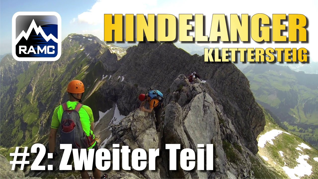 Klettersteig Madrisella : Hindelanger klettersteig fotogene gratkletterei allgäu gopro
