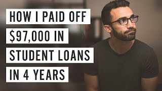 How I Paid off $97,000 in Student Loans in 4 Years thumbnail