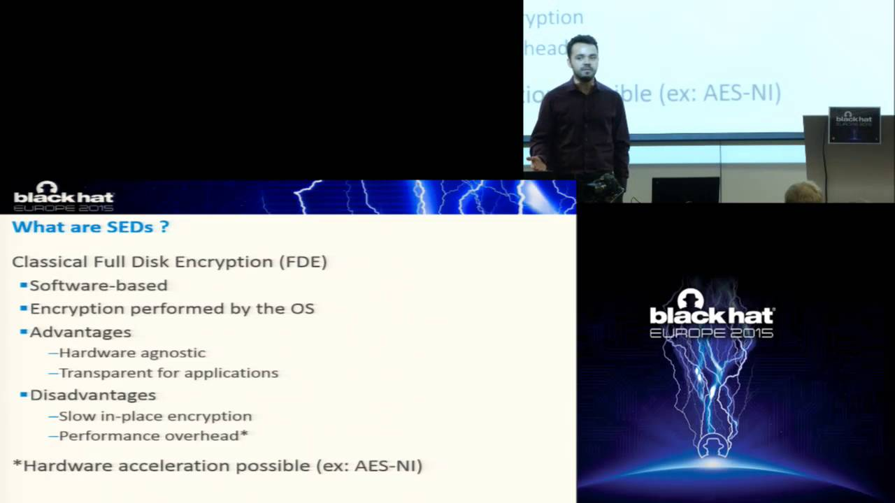 Bypassing Self-Encrypting Drives (SED) in Enterprise Environments