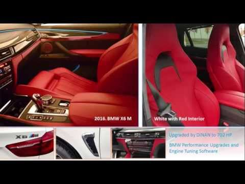 2016 Bmw X6 M White With Red Interior Upgraded By Dinan To 702 Hp