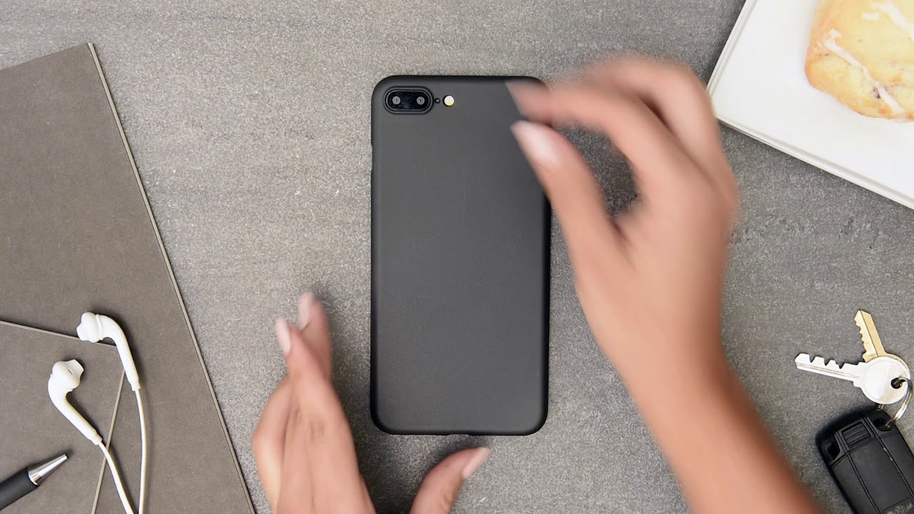 e6cd3d94520 Ultra thin iPhone 7 Plus and iPhone 8 Plus cases by totallee (black iPhone)