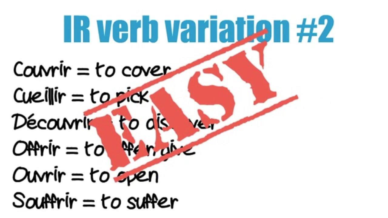 French conjugation regular and irregular verbs etre avoir aller er ir re endings also rh youtube