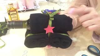 Подарок на 23 февраля! Танк из носков!