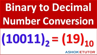 Binary to Decimal Number Conversion Complete Method -