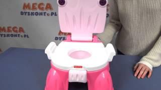 Pink Princess Stepstool Potty / Nocnik dla Dziewczynki z Fanfarami - Fisher Price - Mattel
