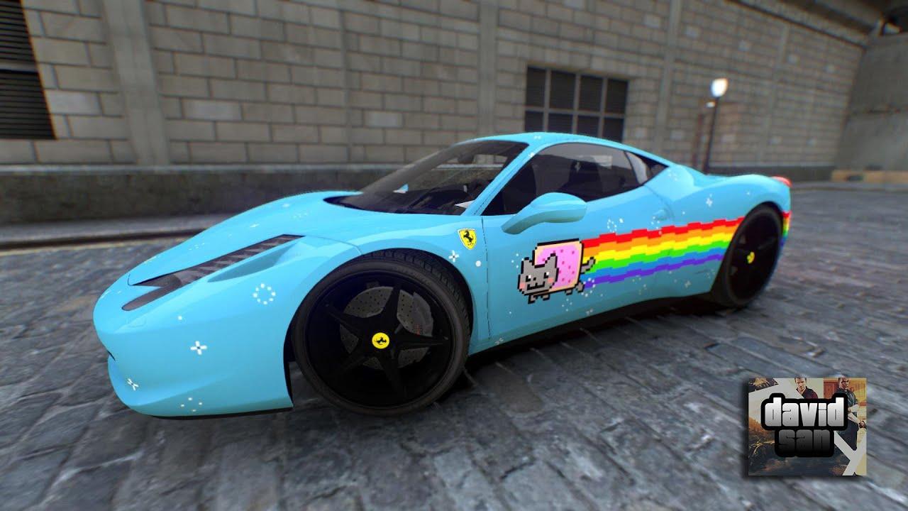 Gta Iv Mod Ferrari 458 Italia Deadmau5 Quot Purrari