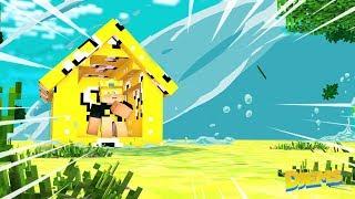 Minecraft: TSUNAMI VS CASA DE LUCKY BLOCK