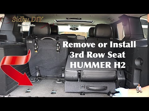 How To Remove or Install 3rd Row Seat in HUMMER H2