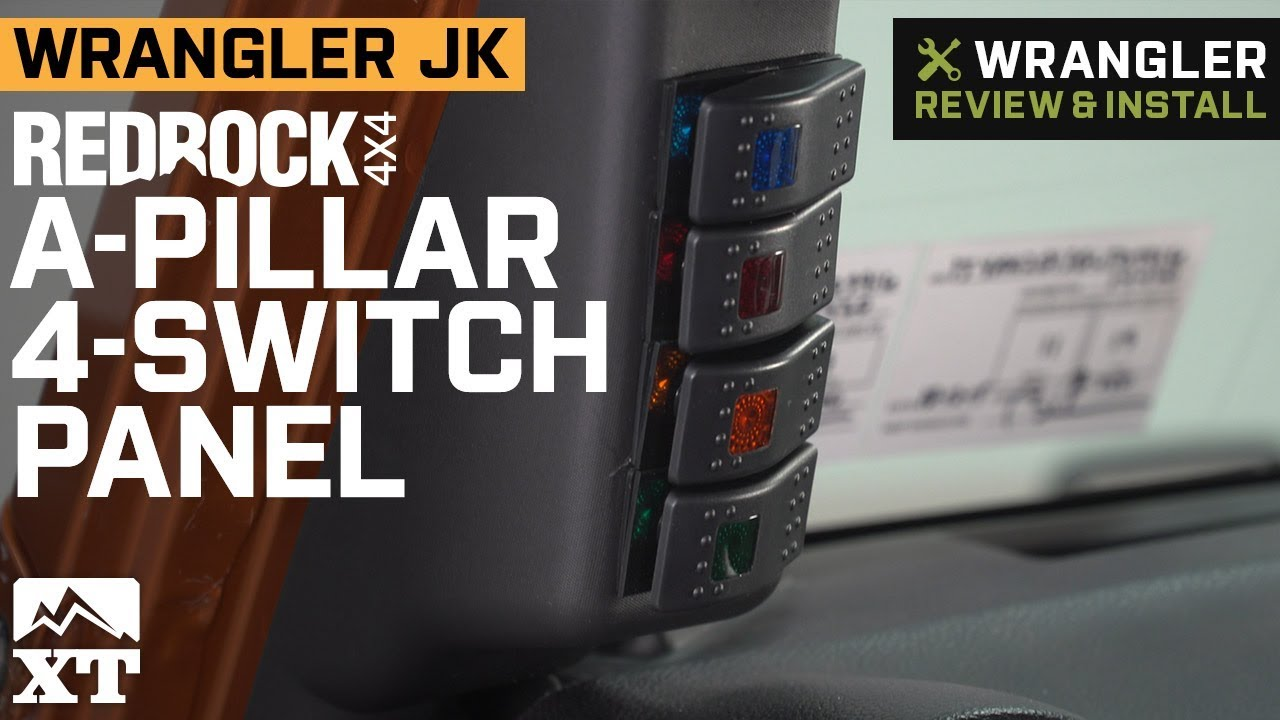 redrock 4x4 jeep wrangler a pillar 4 switch panel j108032 07 18 jeep wrangler jk  [ 1280 x 720 Pixel ]