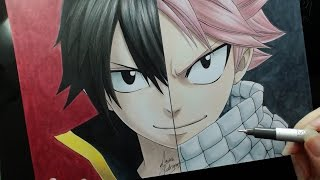 Speed Drawing - Zeref | Natsu (Fairy Tail)