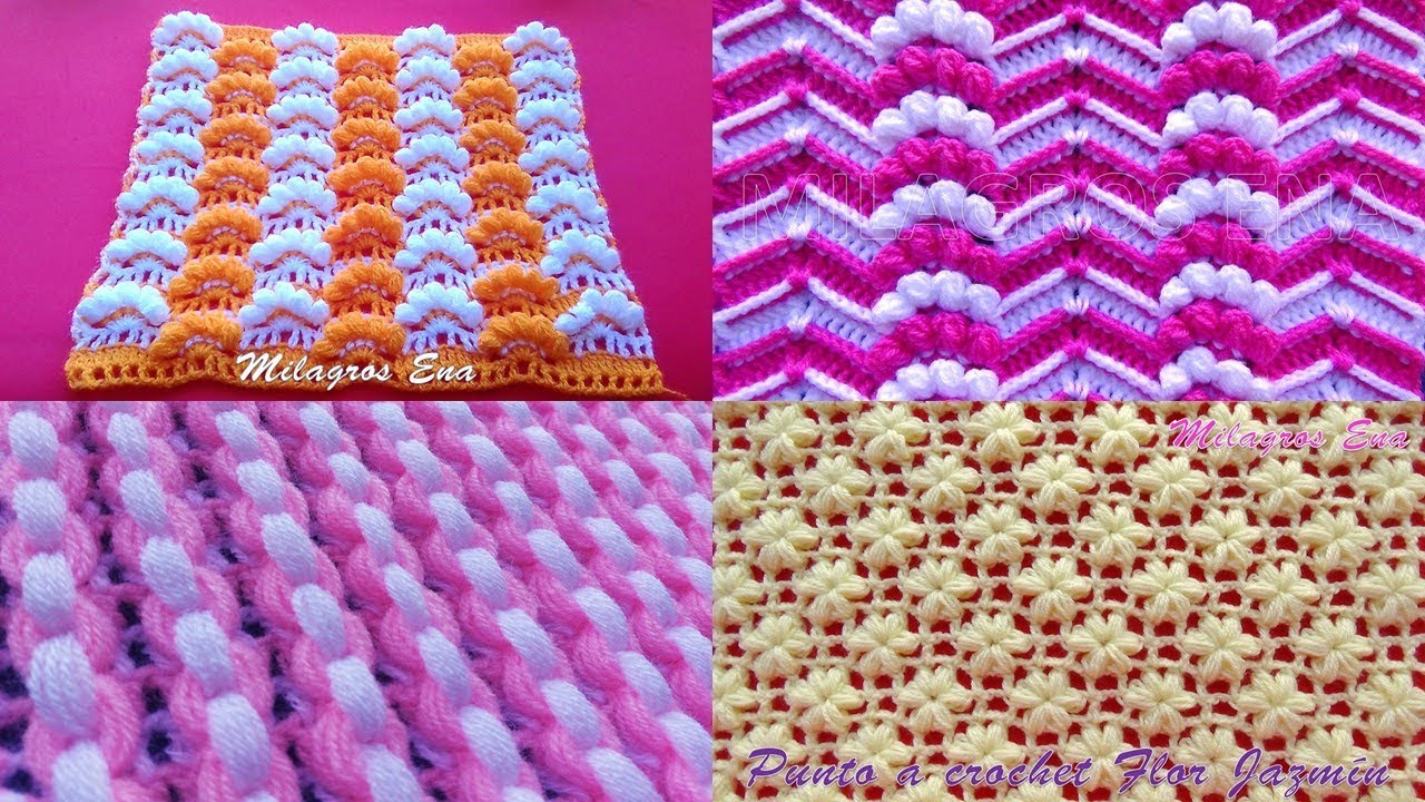 Puntos Tejidos A Crochet O Ganchillo Con Video Tutorial En Mi Canal