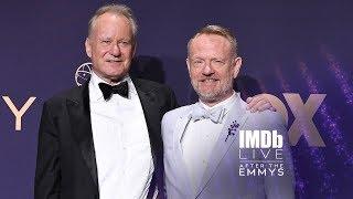 """Jared Harris and Stellan Skarsgaård of """"Chernobyl"""" Celebrate Their Emmys Victories With Creators Video"""
