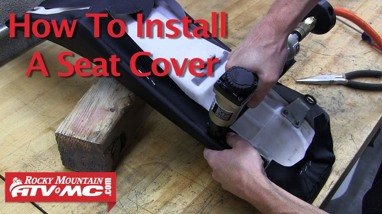 Motorcycle Seat Cover Install YouTube - Stretch vinyl for motorcycle seat