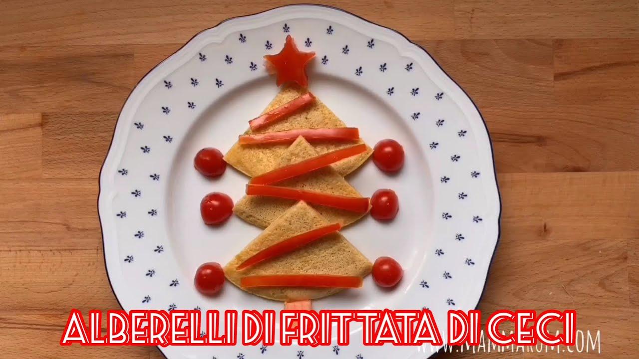 Ricette di Natale per bambini: alberelli di frittata di ceci - YouTube