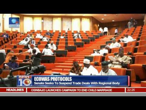 Ecowas Protocols: Senate Seeks To Suspend Trade Deals With Regional Body