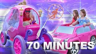 Little Princesses Season 2 - The Ride on Pink Disney Princess Carriage and Princess Lessons for Kids