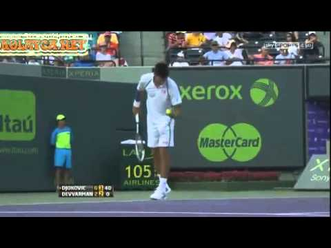 Novak Djokovic vs Somdev Devvarman ATP Miami 2013 Sony Open Tennis 2013