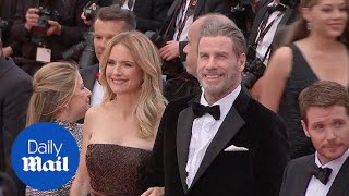 John Travolta and Kelly Preston smile on the Cannes red carpet - Daily Mail