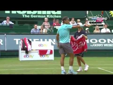 Nadal vs Brown Halle 2014 2R (extended highlights) HD