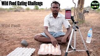 30 Raw Country Chicken Eggs Drinking Challenge || Wild Food Eating Challenge || Wild Food