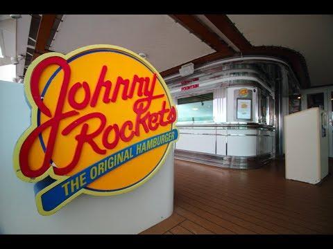 Johnny Rockets dancing waiters, Royal Caribbean