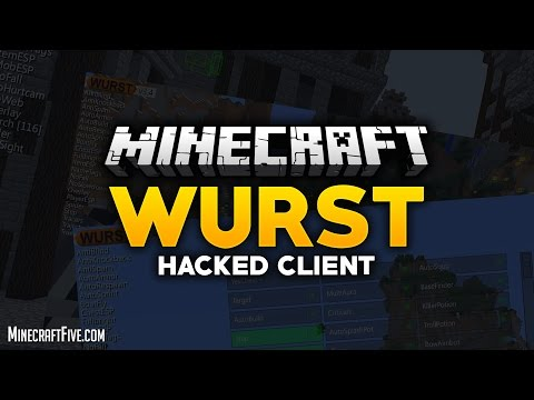 How to Install Minecraft Hacked Client Wurst !!!! WORKING 2017!!!!